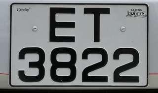 車牌號碼:ET3822
