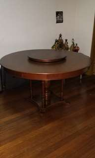 Narra Lazy Susan Dining Table