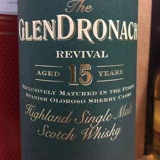 (停產)GlenDronach 15 yr whisky 多納 NOT macallan lagavulin laphroaig