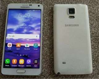 original Samsung Note 4 white