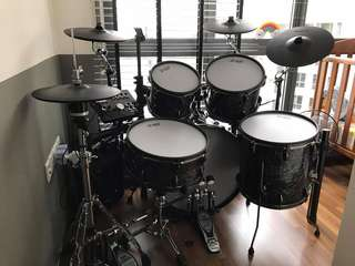 Full Size Custom Diamond Electronics Drum with Roland TD25KV cymbals and stand