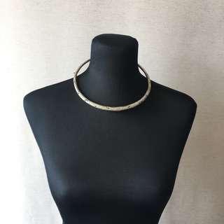 (003) Vintage-inspired necklace: Vietnamese hammered torque