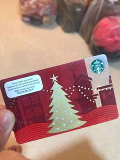 Starbucks card 聖誕節 (刮卡 無錢)