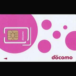 日本 數據卡 8天 4G 2GB + 無限數據 上網卡 SIM CARD