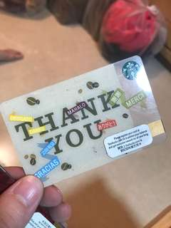 Starbucks Card (刮卡 無錢)thankyou