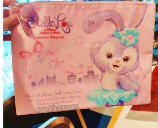 香港迪士尼Stellalou可愛卡通拉鏈A4文件袋