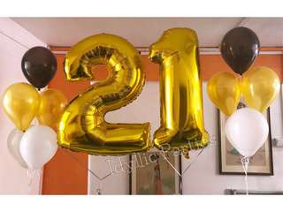 Helium Number Balloons