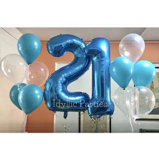 Helium Number Balloon (40inch)
