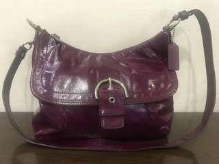 Coach shoulder bag Patent Leather pre loved