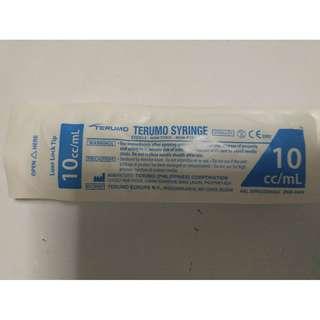 Terumo syringe 10ml. Sterile. 5 pieces.