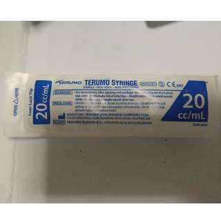 Terumo syringe 20ml. Sterile. 3 pieces.