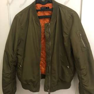 Stradivarius Army Bomber Jacket