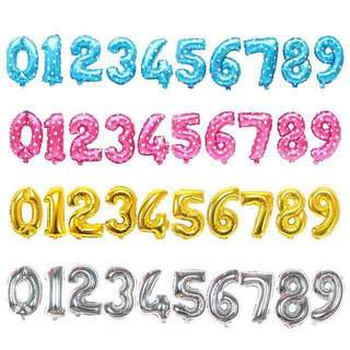 Number Balloons [3 Sizes, 5 Colours]