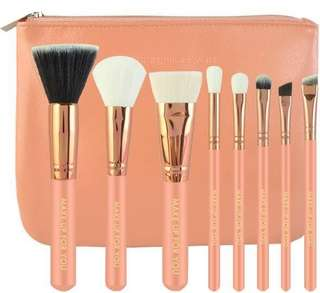 Make up for you 7pc. Makeup Brushes in rose gold & pink