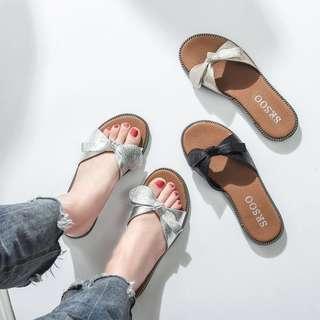 🧡 Ribbon Sandals
