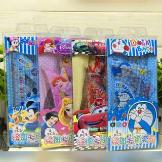 Hello Kitty/Doraemon/Cars/Princess/Mickey 4 piece rulers set