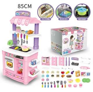 BN 85cm Kitchen Toy Cooking Utensils Play Set w/Light & Sounds ~ Pink / Purple