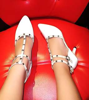 Sexy White High Heels Shoes