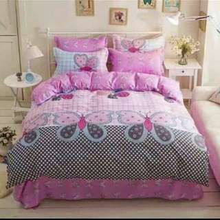 FREE POS Ready Stock Comforter Bedsheet Set 6 In 1