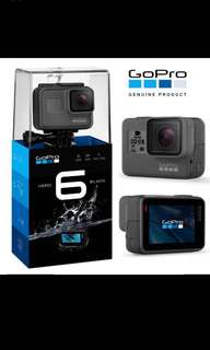 Go Pro Hero6 (99% new)+ accessory