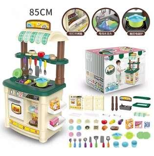 BN 85cm Kitchen Toy Play Set w/Light & Sounds ~ Beige / Green