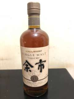 余市威士忌 15年 Yoichi single malt whisky