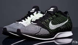 Nike Flyknit Racer (black and white) Unisex footwear