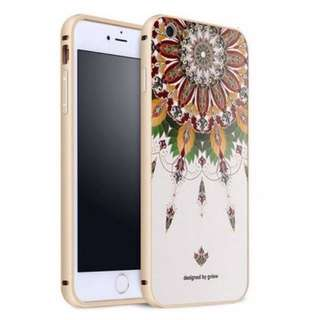 Apple金屬邊框 立體浮雕 超輕手機殼 原價$128  特價$60