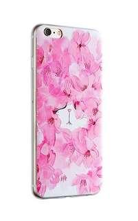 Apple iphone 6s、6s plus 玫瑰貓  3D 立體浮雕 透明  手機套 原價$98 特價$60