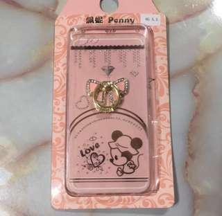 iPhone 6/6s plus 迪士尼 米妮 鑲鑽蝴蝶結 指環掛 手機殼