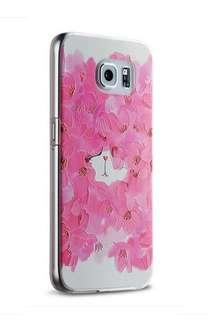 Samsung S6e、S6 玫瑰貓 3D 立體浮雕 透明 硅膠 輕薄外套 手機套 原價$98  特價$60