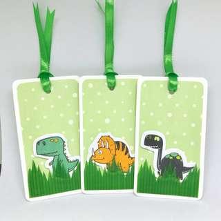 Dinosaur gift tags (3 pcs)