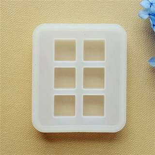 Silicon Cube Transparent Resin Mold, Epoxy Resin UV Resin Mold, 1.6 cm Cube Resin Craft