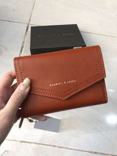 Charles and keith flip wallet dompet ck