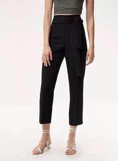 NWT Aritzia Wilfred Geneva Pants/Trousers in Black Size 0