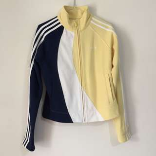 Adidas blue and yellow track jacket