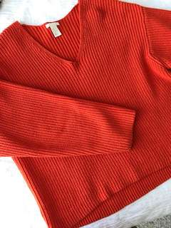 Orange h&m sweater