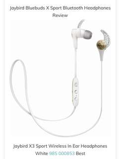 Jaybird x3 wireless sport headphones won t fall out with heavy jaybird sportsband wireless bluetooth headphones jaybird x3 bluetooth wireless headphones patible with ios android jaybird x3 sport wireless in ear headphones White 985