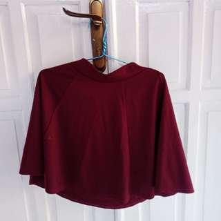 Rok mini maroon