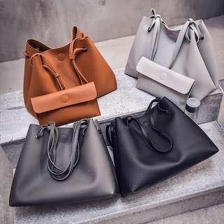 Curvey 2 in 1 MFS Korea Large Tote Shoulder Women handbag beg bag bags