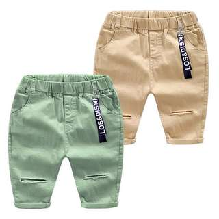 Boys solid color casual pants