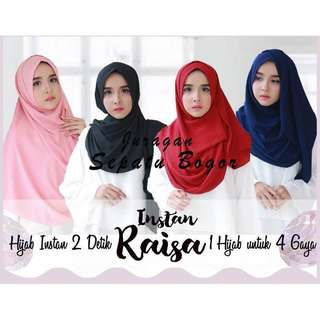 Promo!!  Pashmina intan raisa/jilbab 2 lubang/ hijam instan/jilbab cantik/jilbab murah/loop