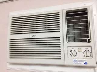 Haier window type aircon 1.5HP