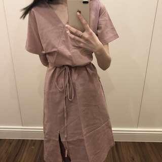 🚚 正韓粉色洋裝