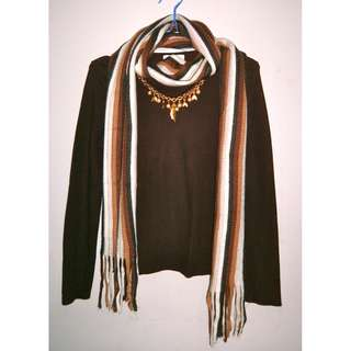 Brown Stripes Neck Warmer/Muffler