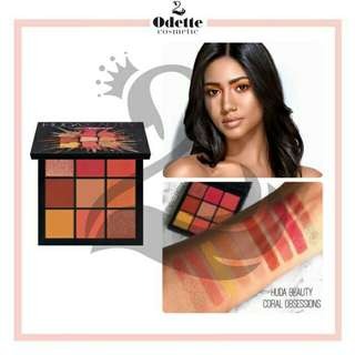 Huda beauty 9 color coral obsession