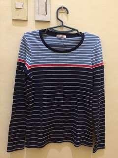 BLUED stripe, long-sleve top