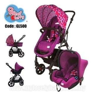 Sweet Cherry GL500 Veteo stroller with Carseat