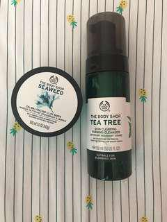 ❗️BUNDLE: THE BODY SHOP TEA TREE CLEANSER + SEAWEED OIL-BALANCING CLAY MASK