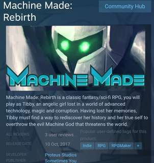 [Clearance Sale] Steam - Machine Made: Rebirth